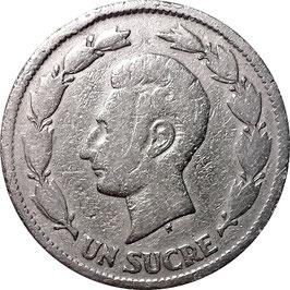 Ecuador 1 Sucre 1937 HF KM#78.1