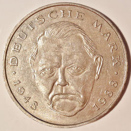 Federal Republic 2 Mark 1988-2001 Ludwig Erhard - 40 Years of Deutsche Mark KM#170