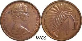 Cook Islands 1 Cent 1973 KM#1 UNC