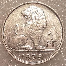 Belgium 1 Franc 1939 BELGIQUE - BELGIE KM#119 VF