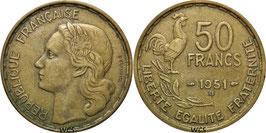 France 50 Francs 1950-1954 Beaumont-le-Roger KM#918.2