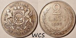 Latvia 2 Lati 1925 KM#8 VF