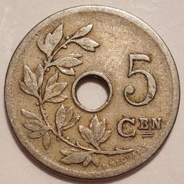 Belgium 5 Centimes 1904-1907 BELGIË KM#55