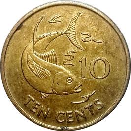 Seychelles 10 Cents 1982-2012 KM#48