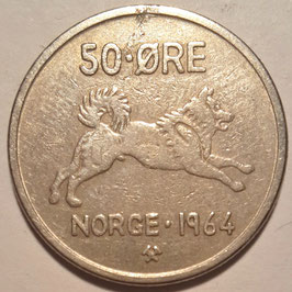 Norway 50 Øre 1958-1973 KM#408