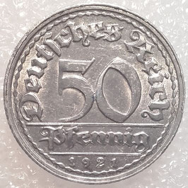 Germany - Weimar Republic 50 Pfennig 1919-1922 KM#27