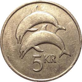 Iceland 5 Kronur 1981-1992 KM#28