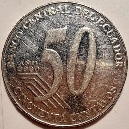 Ecuador 50 Centavos 2000 KM#108