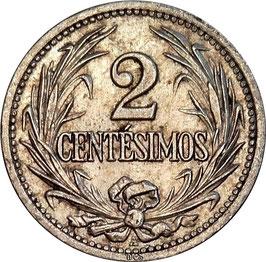 Uruguay 2 Centesimos 1901-1941 KM#20