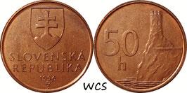 Slovakia 50 Halierov 1996-2008 KM#35