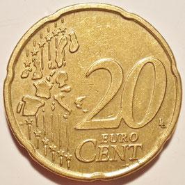 Belgium 20 Cents 1999-2006 KM#228