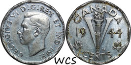 Canada 5 Cents 1944-1945 KM#40a VF-