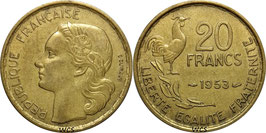 France 20 Francs 1950-1954 G.GUIRAUD KM#917.1