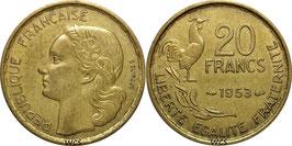 France 20 Francs 1950-1954 G.GUIRAUD KM#917.1