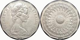 Australia 50 Cents 1977 - 25th Anniversary of the Accession of Elizabeth II KM#70 XF- (1)