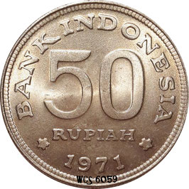 Indonesia 50 Rupiah 1971 KM#35 XF