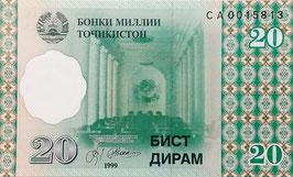 Tajikistan 20 Diram 1999 P.12a UNC