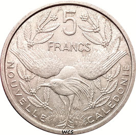 New Caledonia 5 Francs 1952 KM#4 VF