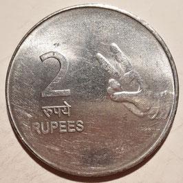 India 2 Rupees 2007-2011 KM#327