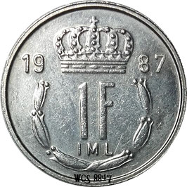 Luxembourg 1 Franc 1986-1987 KM#59