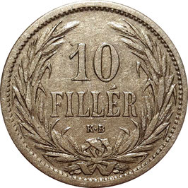 Hungary 10 Filler 1892-1914 KM#482