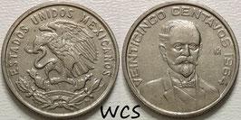 Mexico 25 Centavos 1964-1966 KM#444
