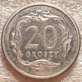 Poland 20 Groszy 1990-2016 Y#280