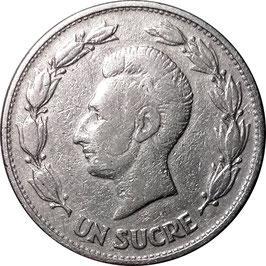 Ecuador 1 Sucre 1946 KM#78.2