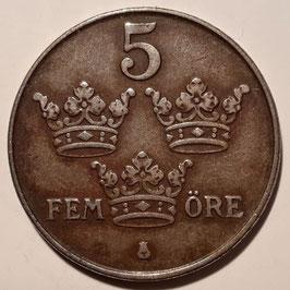 Sweden 5 Öre 1942-1950 KM#812