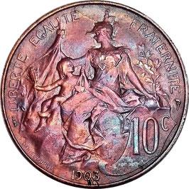 France 10 Centimes 1897-1921 KM#843