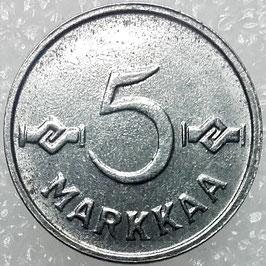 Finland 5 Markkaa 1952-1953 KM#37