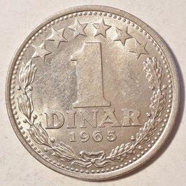 Yugoslavia 1 Dinar 1965 KM#47