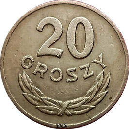 Poland 20 Groszy 1949 Copper-Nickel Y#43 VF
