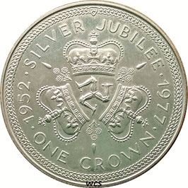 Isle of Man 1 Crown 1977 - 25th Anniversary of the Accession of Queen Elizabeth II KM#41 UNC- (1)