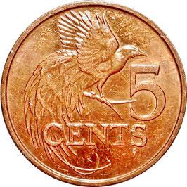 Trinidad and Tobago 5 Cents 1976-2017 KM#30