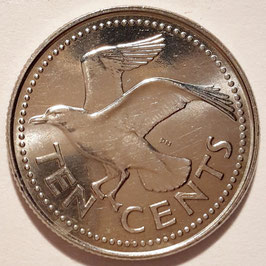 Barbados 10 Cents 1973-2005 KM#12