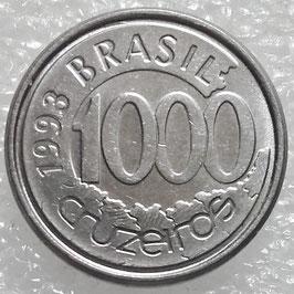 Brazil 1000 Cruzeiros 1992-1993 KM#626