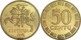 Lithuania 50 Centas 1997-2014 KM#108
