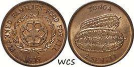 Tonga 2 Seniti 1975 F.A.O. KM#43 UNC-