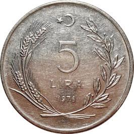 Turkey 5 Lira 1974-1979 KM#905