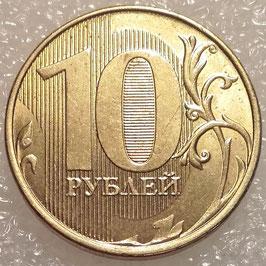 Russia 10 Rubles 2009-2015 Y#998