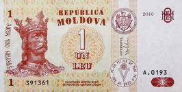 Moldova 1 Leu 2010 P.8h UNC