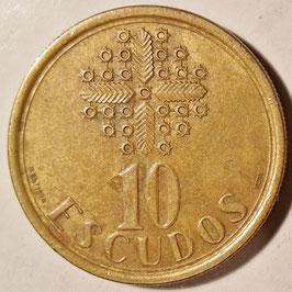 Portugal 10 Escudos 1986-2001 KM#633