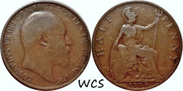 Great Britain ½ Penny 1911-1925 KM#809