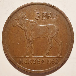 Norway 5 Öre 1958-16973 KM#405