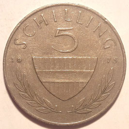 Austria 5 Schilling 1968-2001 KM#2889a