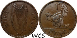 Ireland 1 Penny 1940-1968 KM#11