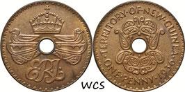 New Guinea 1 Penny 1936 KM#6 XF+