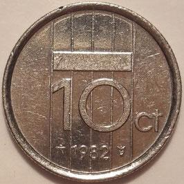 Netherlands 10 Cents 1982-2001 KM#203