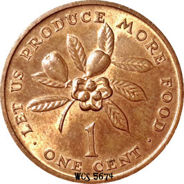 Jamaica 1 Cent 1971-1974 F.A.O. - Let us produce more food KM#52